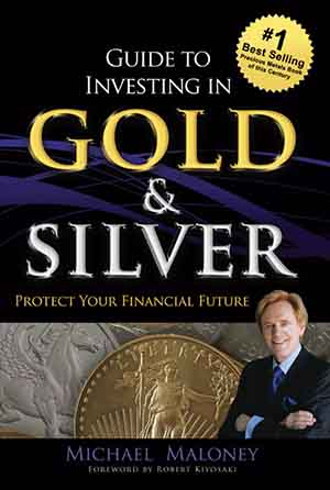 Book cover. Michael Maloney - Guide to investing in gold and silver