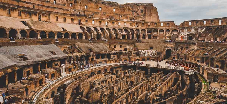 Ruins of Colosseum nowadays