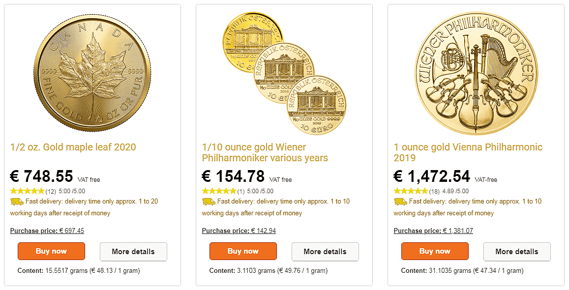 gold coins buying price is always lower than sale price