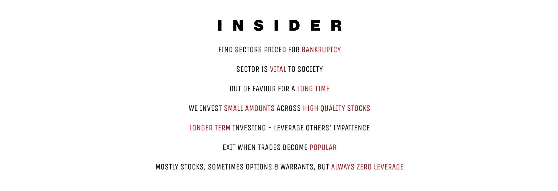 Insider investing capitalist exploits