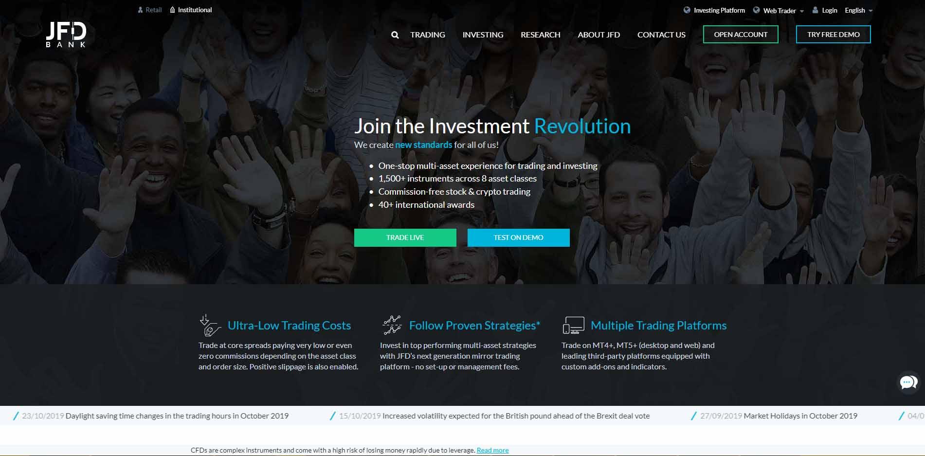 Homepage of JFD